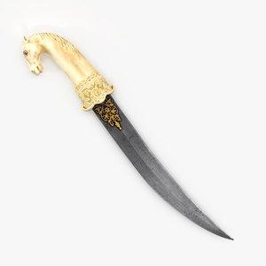 horse head dagger 3D