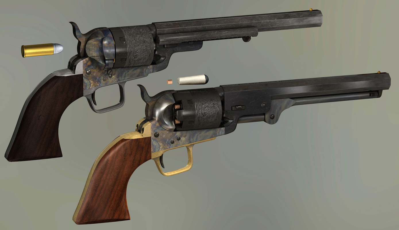 colt navy 1851 conversion 3D model