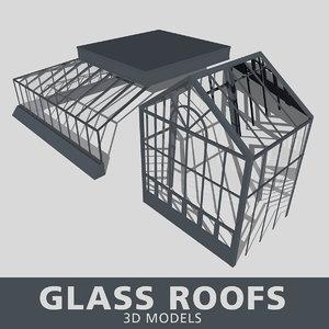 3D glass roof model