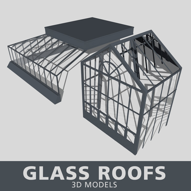 3D glass roof model