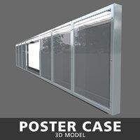 3D poster case model