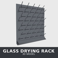 glass drying rack 3D model