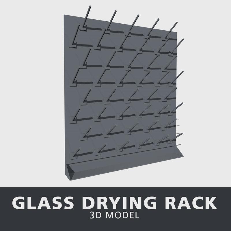 glass drying rack 3D model