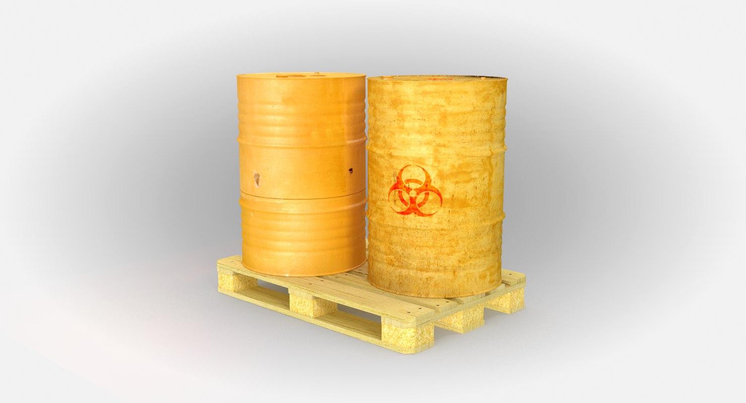 3D steel barrel pallet v2