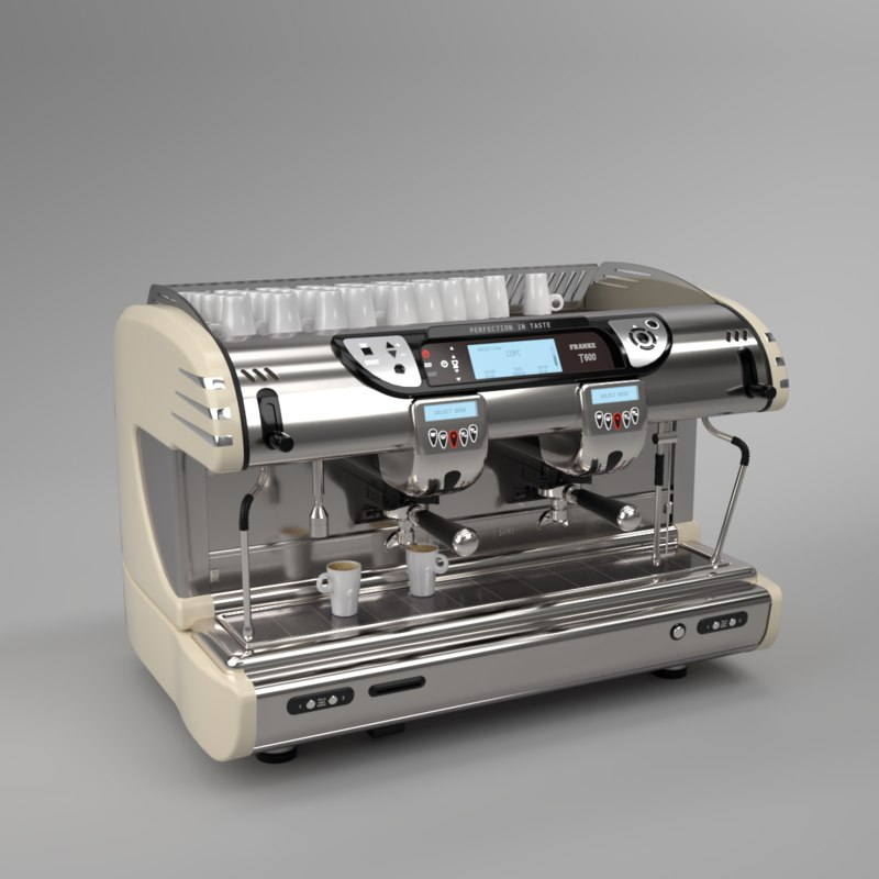 interior 2 franke coffee machine 3D model