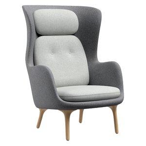 ro chair fritz hansen 3D model