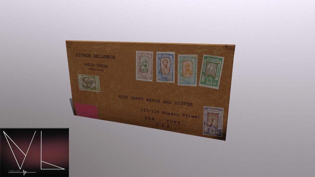 3D old letter