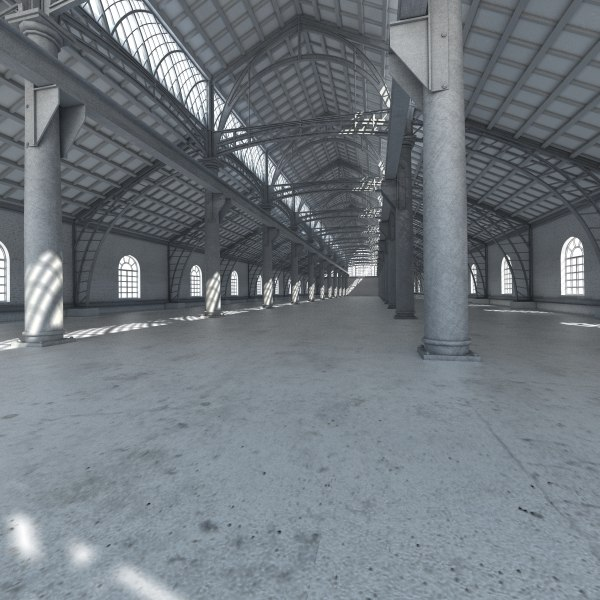 3D base industial interior model