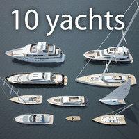 3D 10 yachts