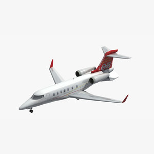 3D model learjet private jet