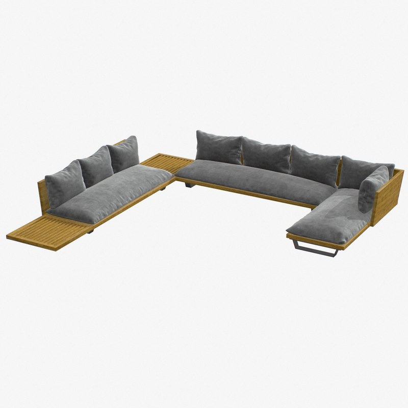 3D 2 couch