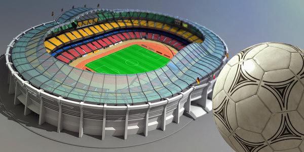 3D grand stadium model