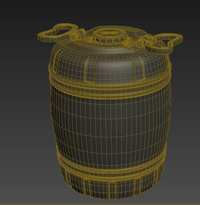 drum water 3D model