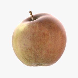 3D realistic apple