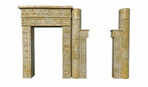 egyptian temple 3D model