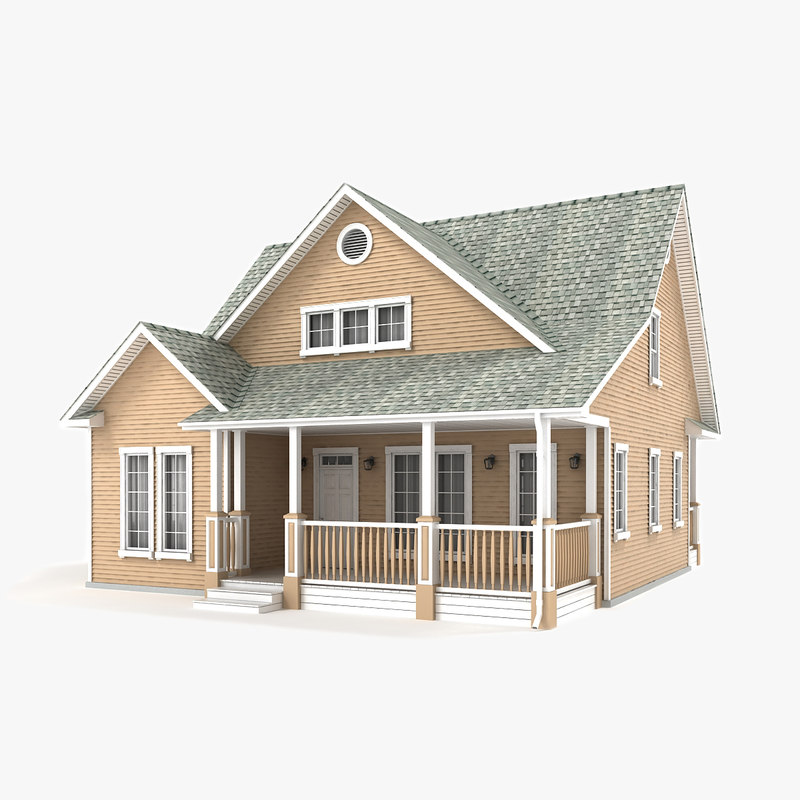 two-story cottage 57 3D