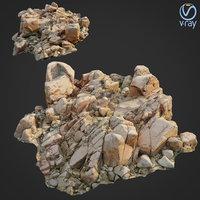 scanned rock cliff c2 3D model