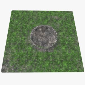 3D crater real modeled