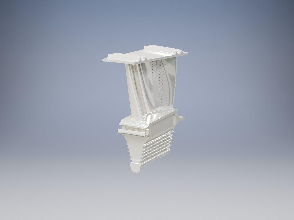 3D turbine blade model