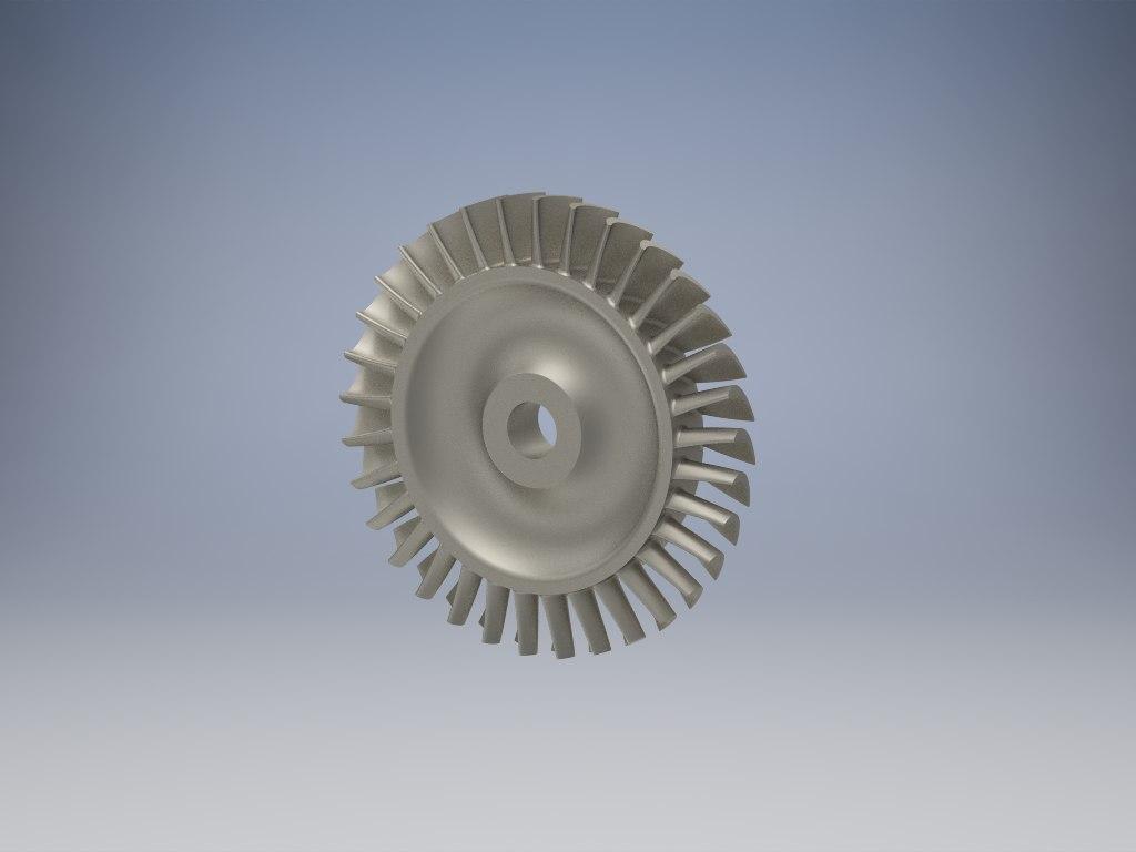 turbine disk 3D