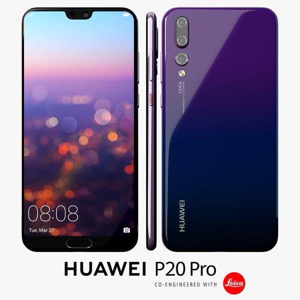 huawei p20 pro 3D model