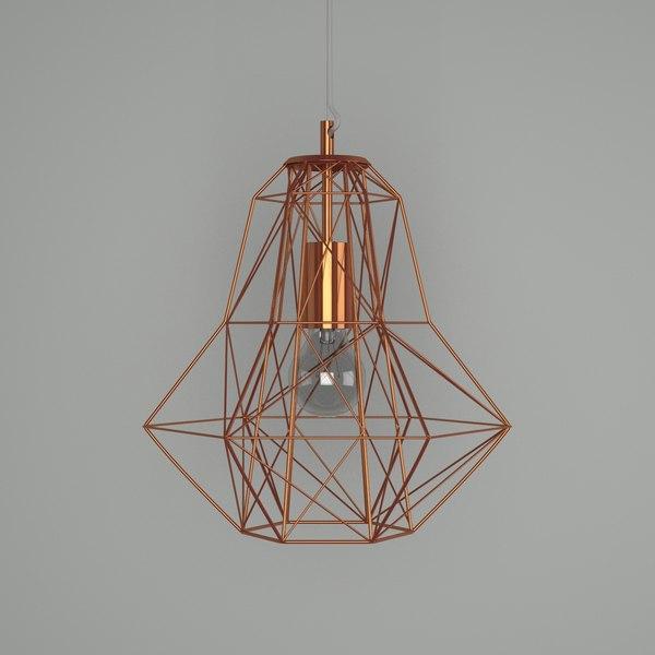 3d Copper Wire Mesh Light Model, Copper Mesh Lamp Shade