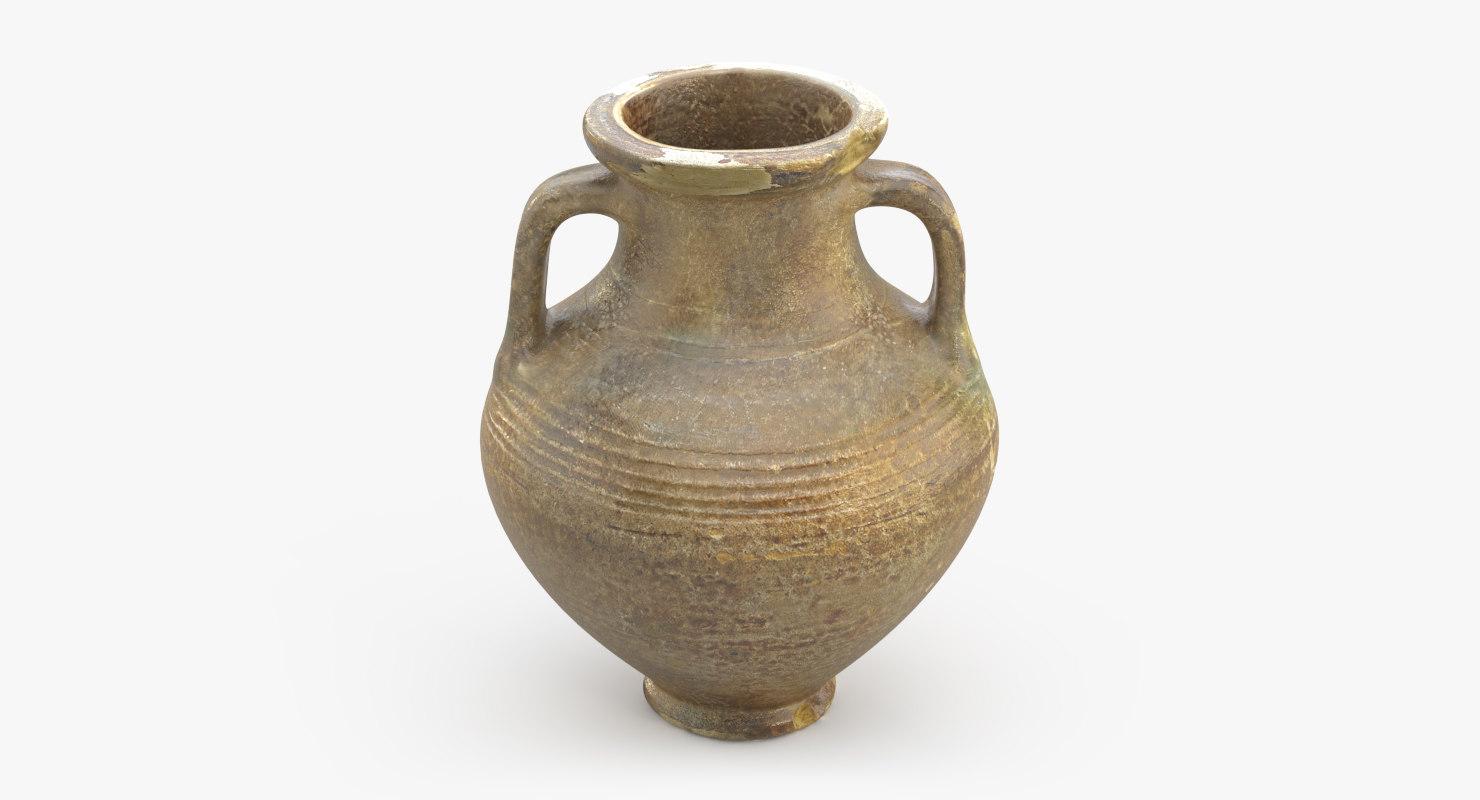 ancient saudi pottery jug model