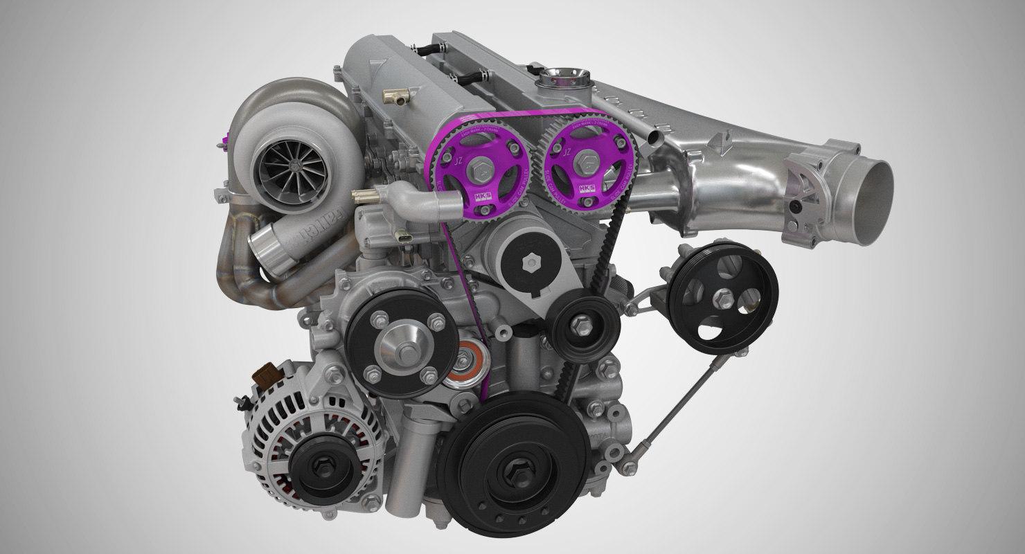 3D toyota engine 2jz-gte - TurboSquid 1274111