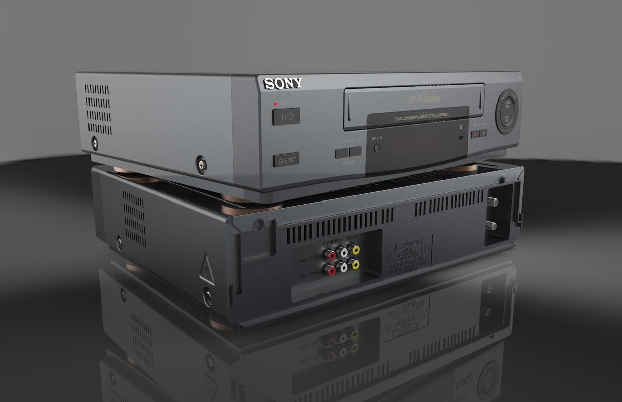 3D model vhs recorder