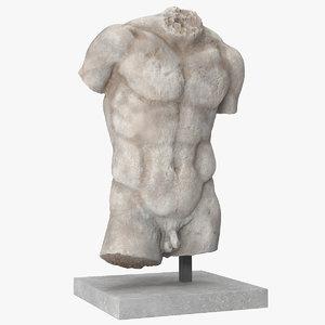 3D man torso model