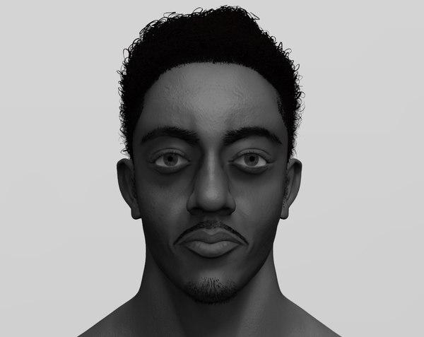 african boy head model