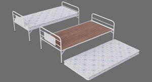 bed 1a mattress 3D model