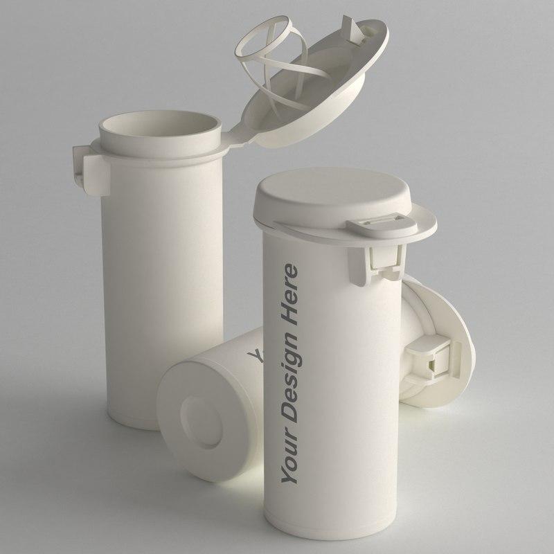 3D pills bottle type2 model