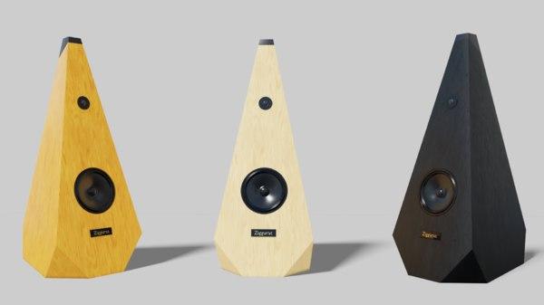 3D ziggurat speakers 2