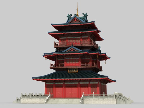 3D model chinese building