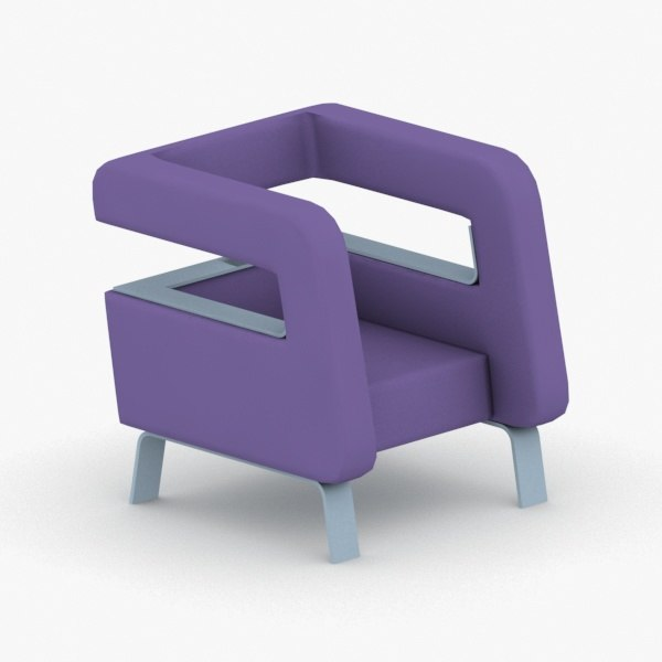 3D model - armchairs chairs