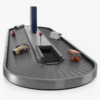 baggage claim conveyor metal 3D model