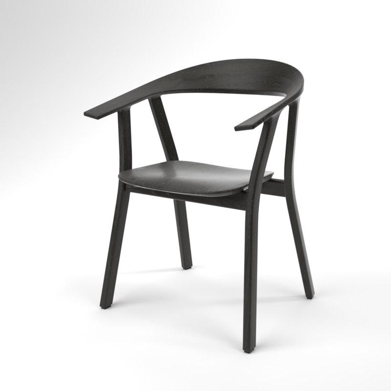 interior prostoria rhomb black 3D model