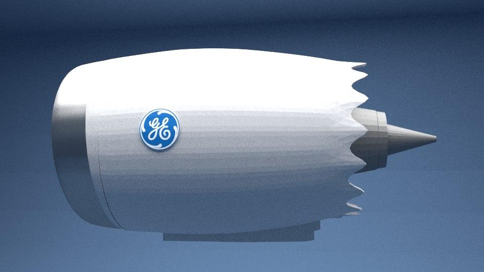 turbo jet engine electric 3D