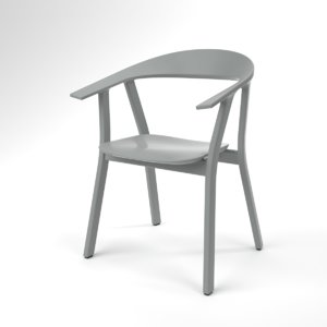 3D interior prostoria rhomb grey model