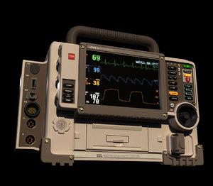 defribrillator monitor 3D