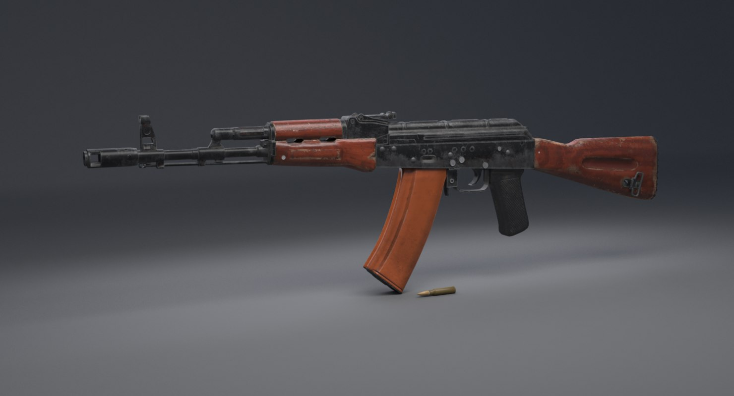 ak-74 rifle assault 3D