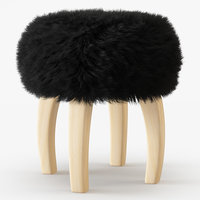 3D wool patagonia sheepskin stool