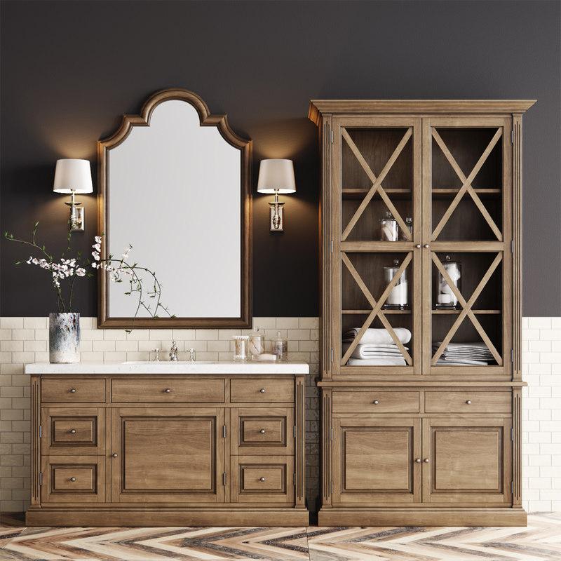 dantone bathroom set 3D model