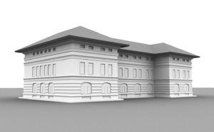 neoclassical building model