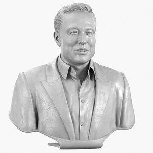 3D elon musk bust model