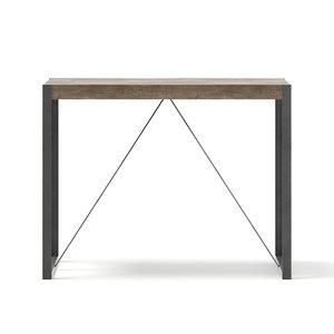 3D tall table metal