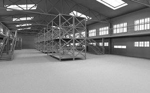 hangar interior model
