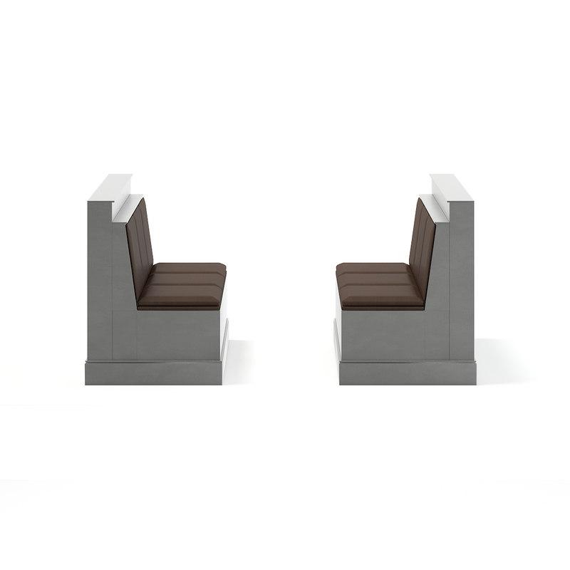 restaurant sofas 3D model