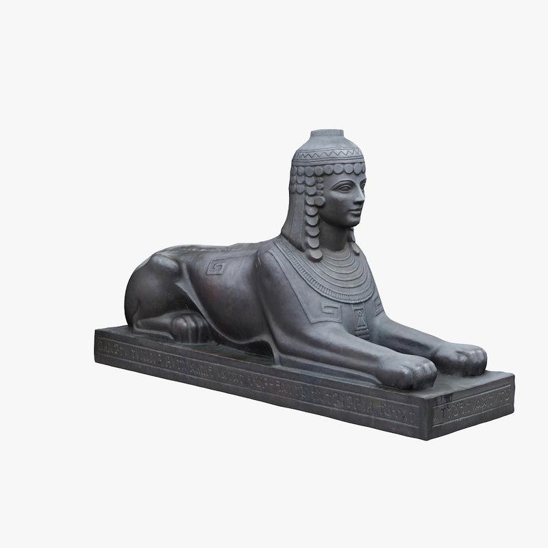 sphinx sculpture 3D